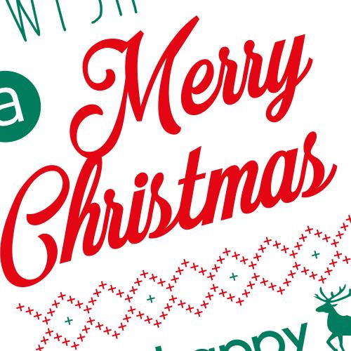 Etiquettes Merry Christmas