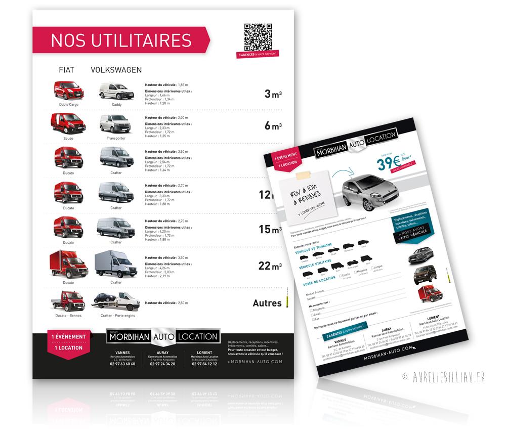 Campagne d'affichage Morbihan Auto Location