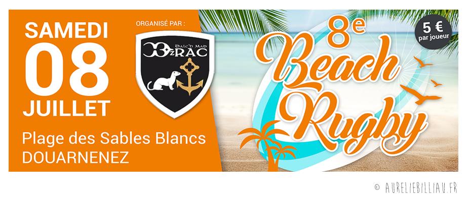Affichage Beach Rugby DRAC