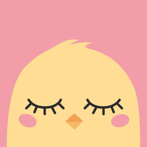 Affiche Sleeping chick