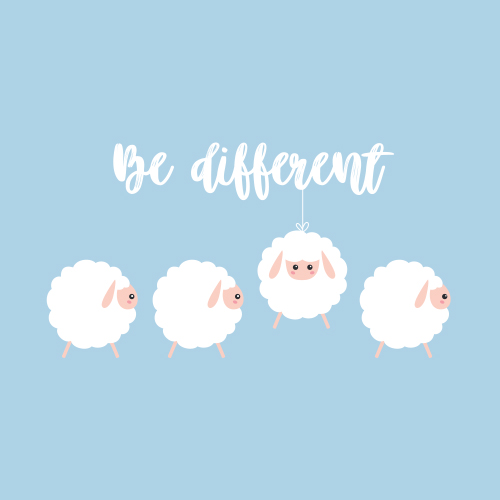 Affiche Be different
