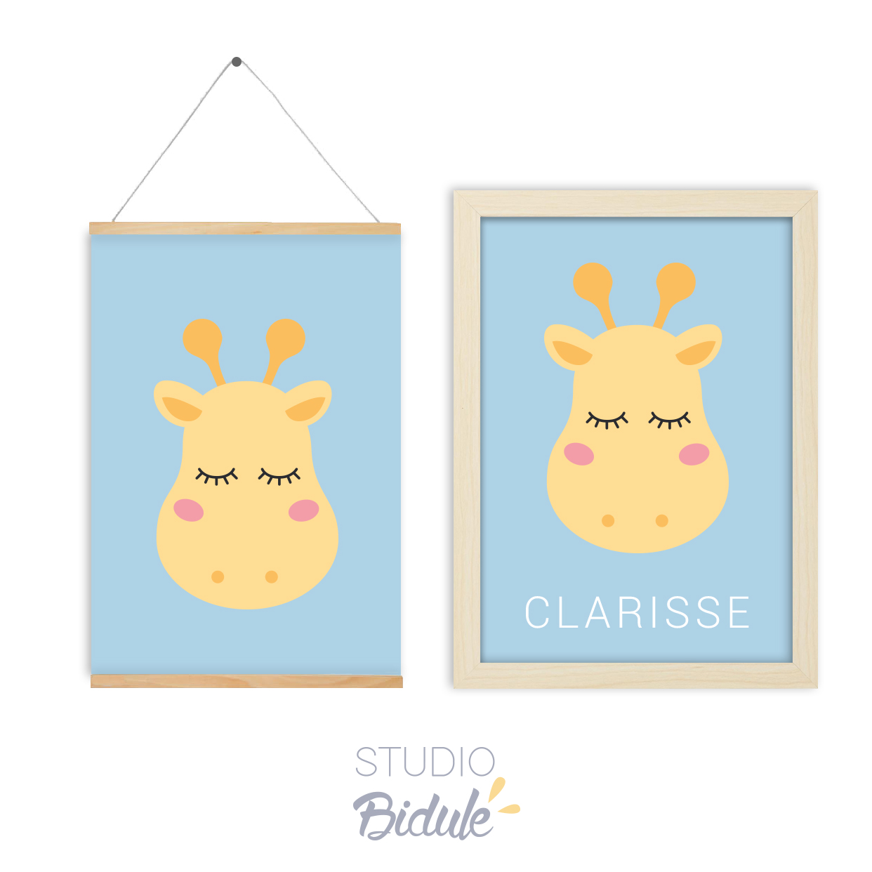 Affiche Nice giraffe