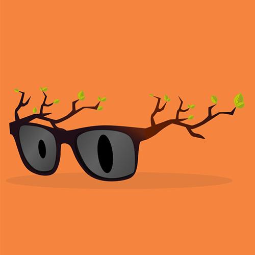 Des branches de lunettes