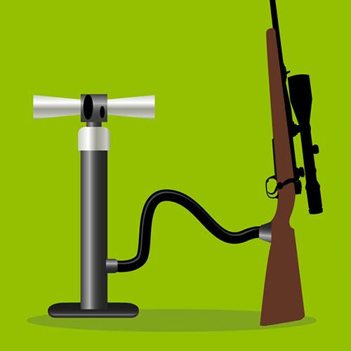 Un fusil à pompe