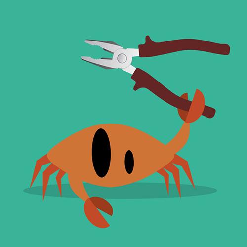 Une pince de crabe