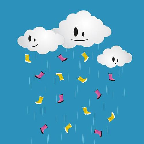 Des bottes de pluie