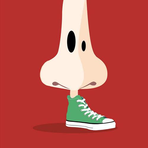 Un pied de nez