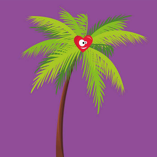 Un cœur de palmier