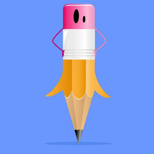 Une jupe crayon