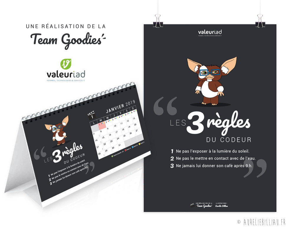 Calendrier x Team Goodies Valeuriad