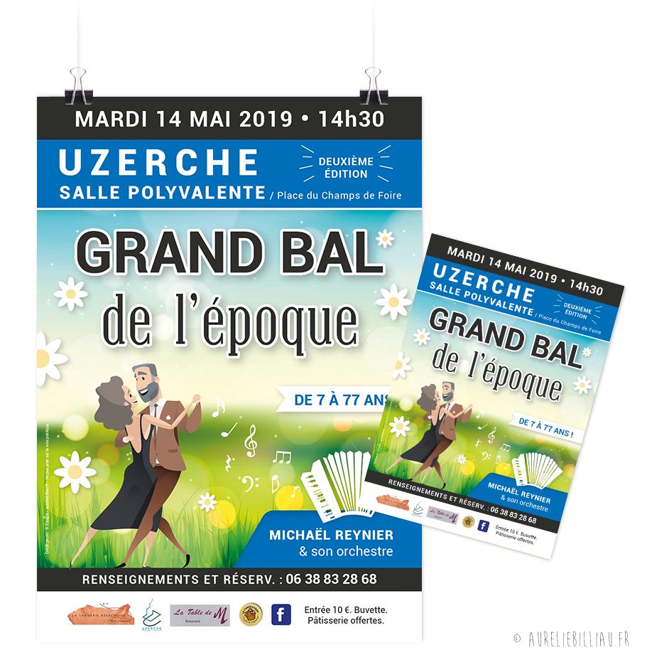 Affiche La Tannerie Uzerchoise Grand bal de l'époque