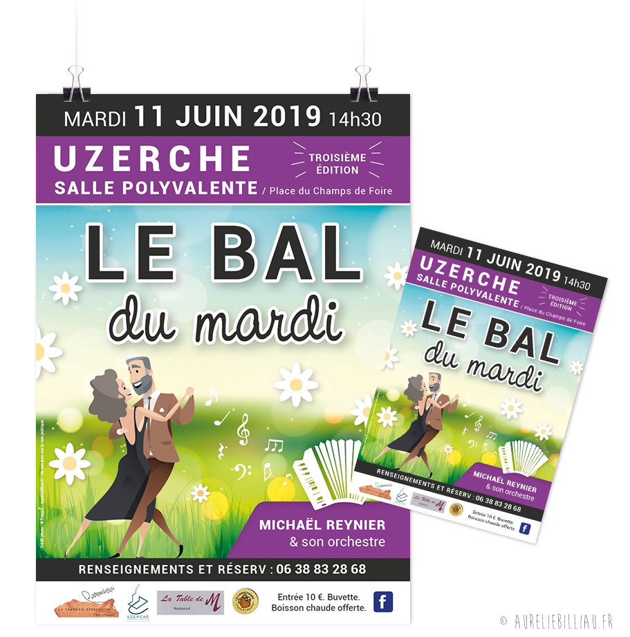 Affiche La Tannerie Uzerchoise Le Bal du mardi
