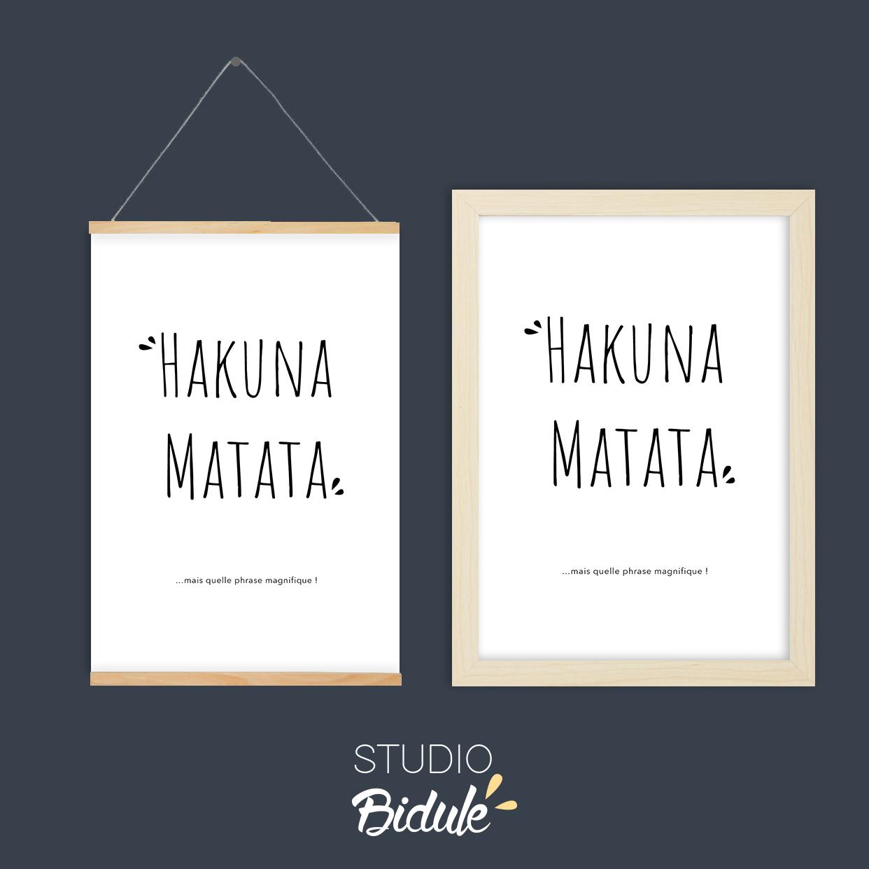 Affiche Hakuna Matata