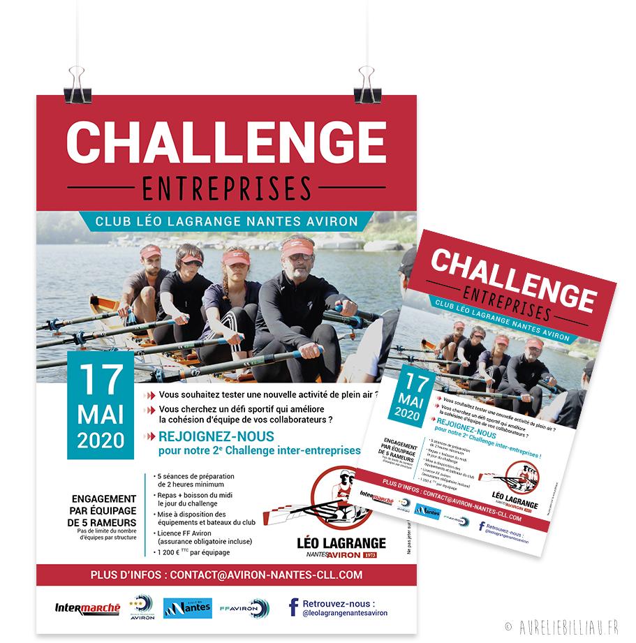 Affiche et flyer Challenge Entreprises