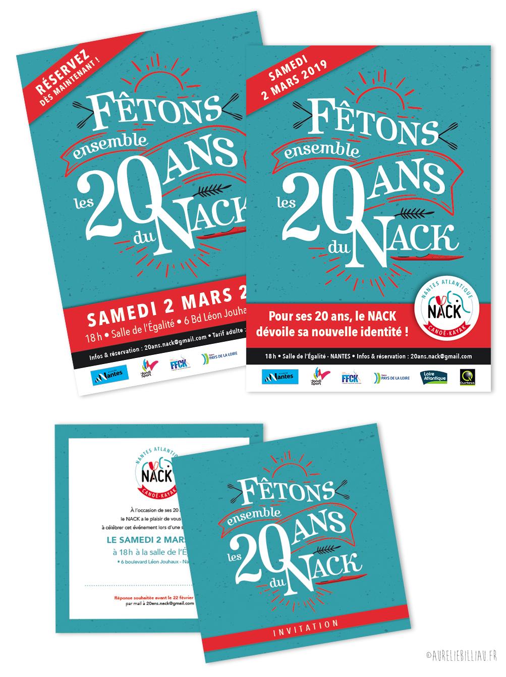 Affiches & invitation 20 ans du NACK