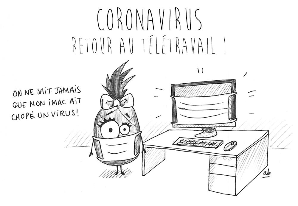 Coronavirus - reprise du télétravail