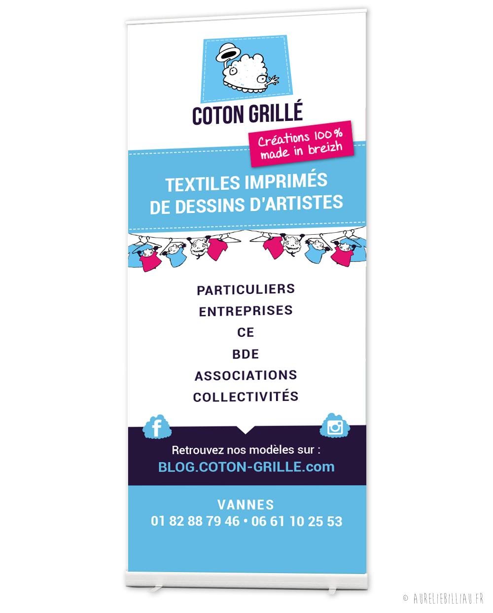 Roll-up Coton Grillé