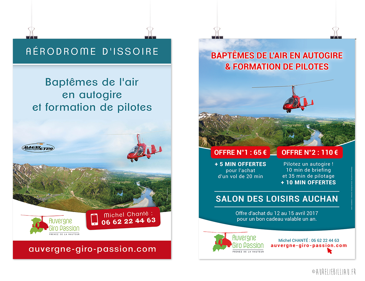 Affiches Auvergne Giro Passion